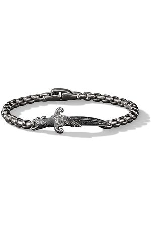 David Yurman Sterling silver Waves diamond dagger bracelet