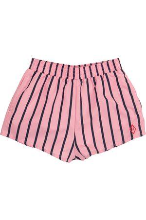 The Animals Observatory Boys Swimming Briefs - Puppy striped swim trunks