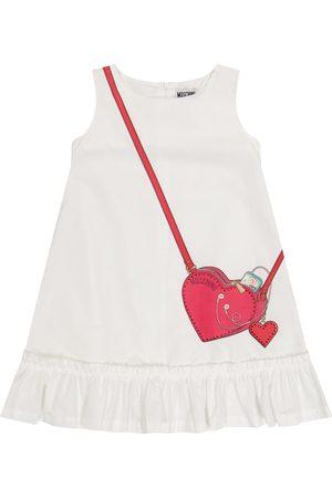 Moschino Kids Embellished printed cotton dress