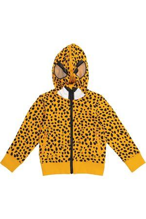 Stella McCartney Kids Boys Sweatshirts - Cheetah-print cotton hoodie