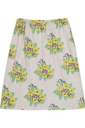 The Animals Observatory Girls Skirts - Ladybug floral cotton-jersey skirt