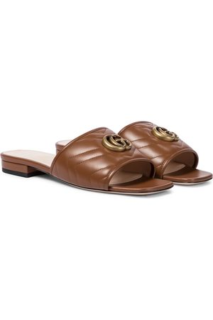 Gucci Double G leather sandals