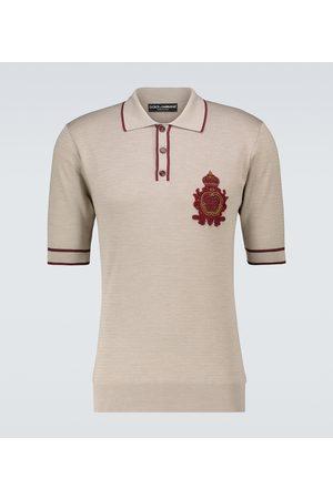 Dolce & Gabbana Silk short-sleeved polo shirt