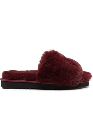 Apparis Jasmine faux-fur flatform slippers