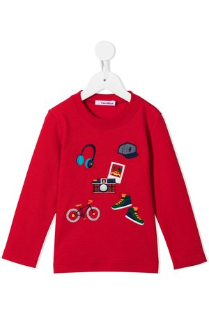 Familiar Boys Long Sleeve - Embroidered motif long-sleeved top