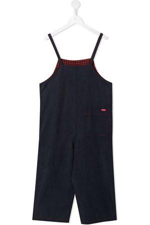 Familiar Girls Jumpsuits - Straight-leg contrast-stitch jumpsuit