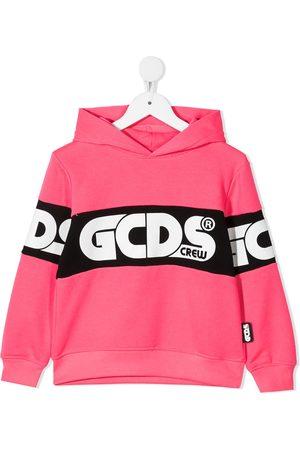 Gcds Kids Boys Hoodies - Logo band hoodie
