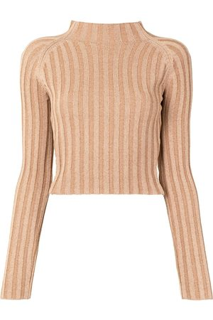 Dion Lee Women Tops - Twist-back ribbed top
