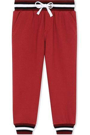 Dolce & Gabbana Kids Stripe trim cotton track pants