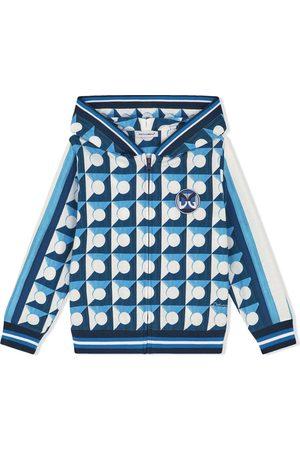Dolce & Gabbana Kids Geometric-print zip-up hoodie