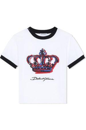 Dolce & Gabbana Kids DG crown print T-shirt