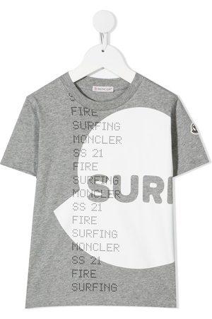 Moncler Enfant SURF logo-print T-shirt