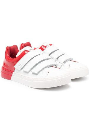 Balmain Kids Two-tone touch-strap trainers