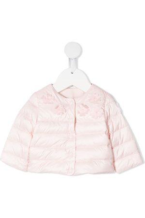 Moncler Enfant Floral applique padded jacket