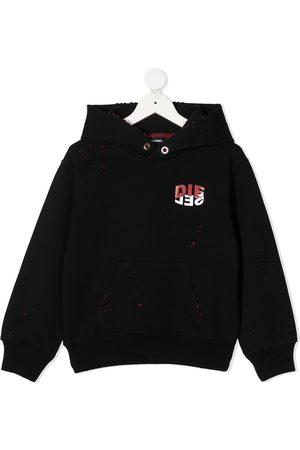 Diesel Kids Logo-print cotton hoodie