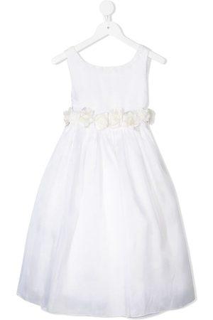 La Stupenderia Floral embroidered flared dress