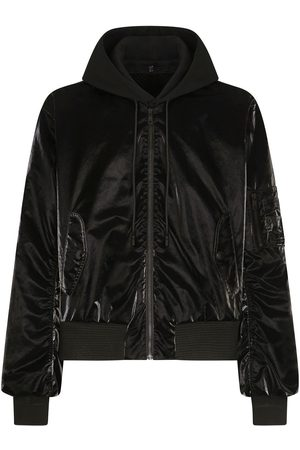Dolce & Gabbana Varnished hooded bomber jacket