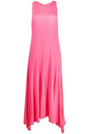 Stella McCartney Curved-hem sleeveless maxi-dress