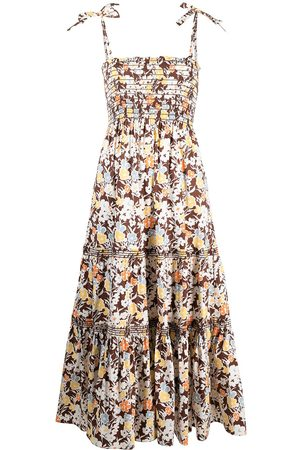 Tory Burch Floral-print ruched dress