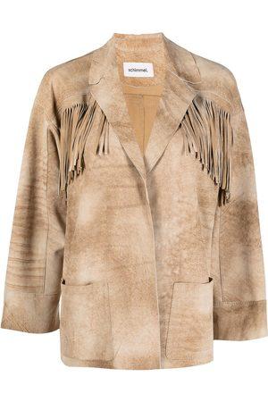 Sylvie Schimmel Fringed goatskin leather jacket