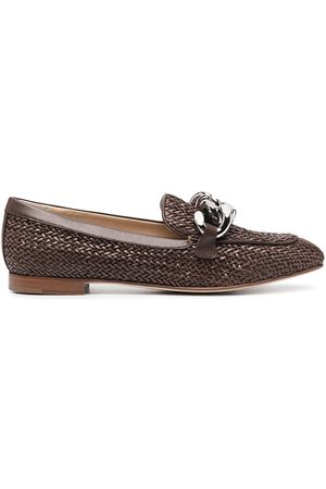 Casadei Woven leather loafers