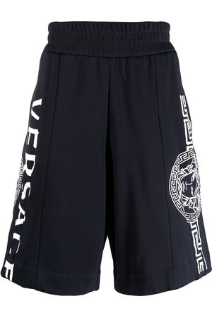 Versace Logo-print knee-length shorts