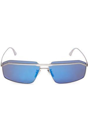 Balenciaga Men Sunglasses - Everyday 64MM Rectangular Pilot Sunglasses
