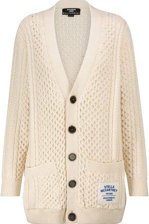 Stella McCartney Women Cardigans - Cotton-blend Aran cardigan