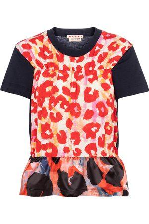 Marni Leopard-print peplum T-shirt