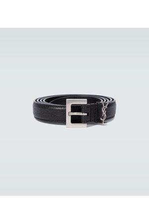 Saint Laurent Men Belts - YSL leather belt