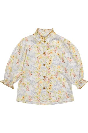 Paade Mode Viola floral satin blouse