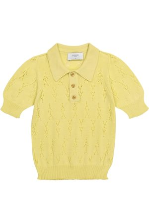 Paade Mode Pointelle cotton knit polo shirt
