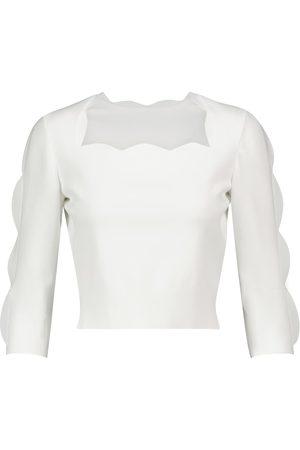 Alaïa Scalloped stretch-knit sweater