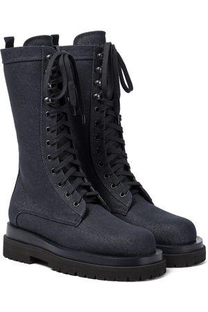 MAGDA BUTRYM Denim combat boots