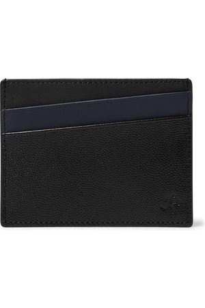 WANT LES ESSENTIELS Men Wallets - Colour-Block Pebble-Grain Leather Cardholder