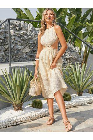 YOINS Backless design Sleeveless Maxi Dress