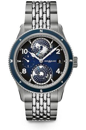 Montblanc Watches - 1858 Geosphere Titanium & Stainless Steel Bracelet Watch