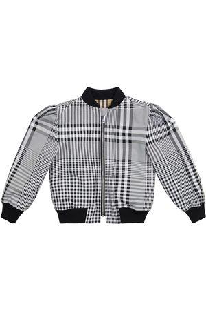 Burberry Kids Vintage Check reversible bomber jacket