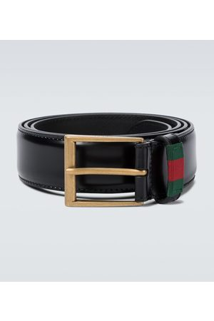 Gucci Leather belt with Web