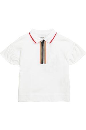 Burberry Kids Icon Stripe cotton piqué polo shirt