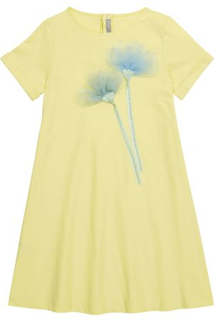 Il Gufo Embroidered cotton jersey dress