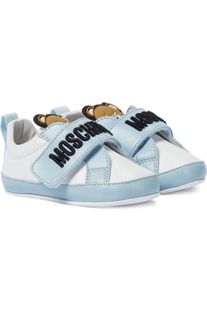 Moschino Kids Baby leather sneakers
