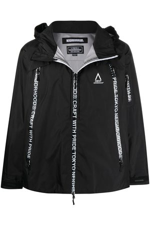 Neighborhood Logo tape rain jacket