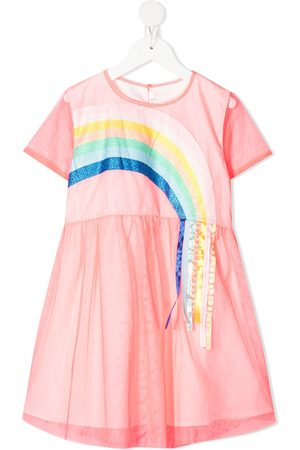 Billieblush Rainbow tulle skater dress