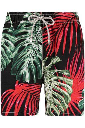 Mc2 Saint Barth Botanical-print elasticated-waist swim shorts