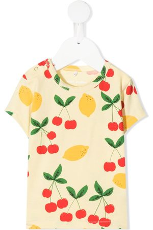 Mini Rodini Baby Short Sleeve - Cherry and lemon-print T-shirt
