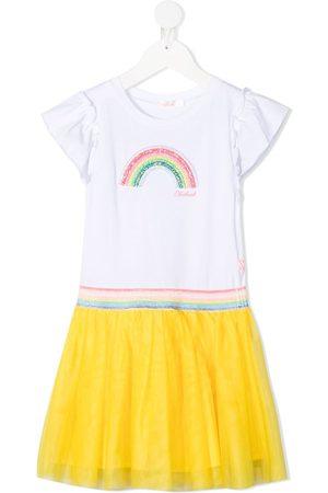 Billieblush Rainbow tulle cotton dress