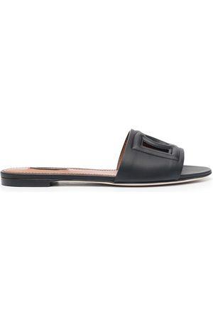 Dolce & Gabbana Logo cut-out flat sandals