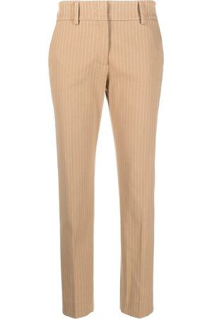 Piazza Sempione Pinstriped tailored cropped trousers