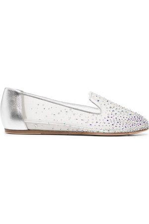 Le Silla Nicole crystal-embellished mesh loafers